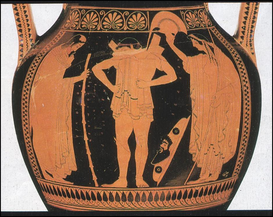 euthymides three revelers Euthymides, three revelers (athenian red-figure amphora), c 510 bce, 24 inches high (staatliche antikensammlungen, munich) (photo: richard mortel, cc by-nc-sa 20) the vase displays balance and harmony of proportions, with its elegant and graceful shape, and carefully planned pictorial decoration.